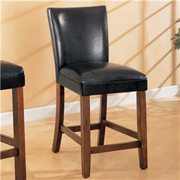 Incredible Coaster Telegraph Black Faux Leather Bar Stool 100357 San Theyellowbook Wood Chair Design Ideas Theyellowbookinfo